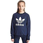 adidas Originals Girls' Polka Crew Sweatshirt Junior