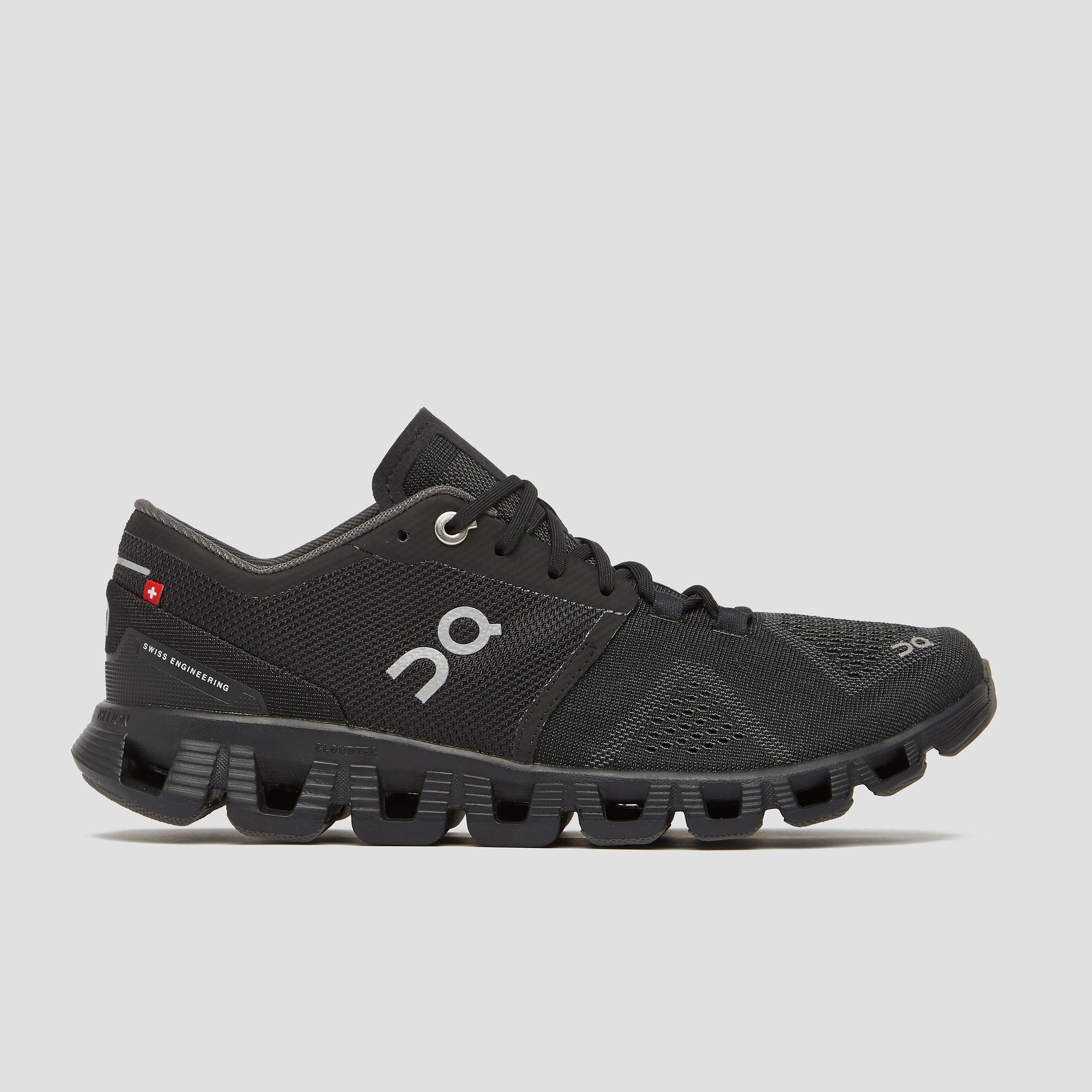 On cloud x hardloopschoenen zwart/grijs dames