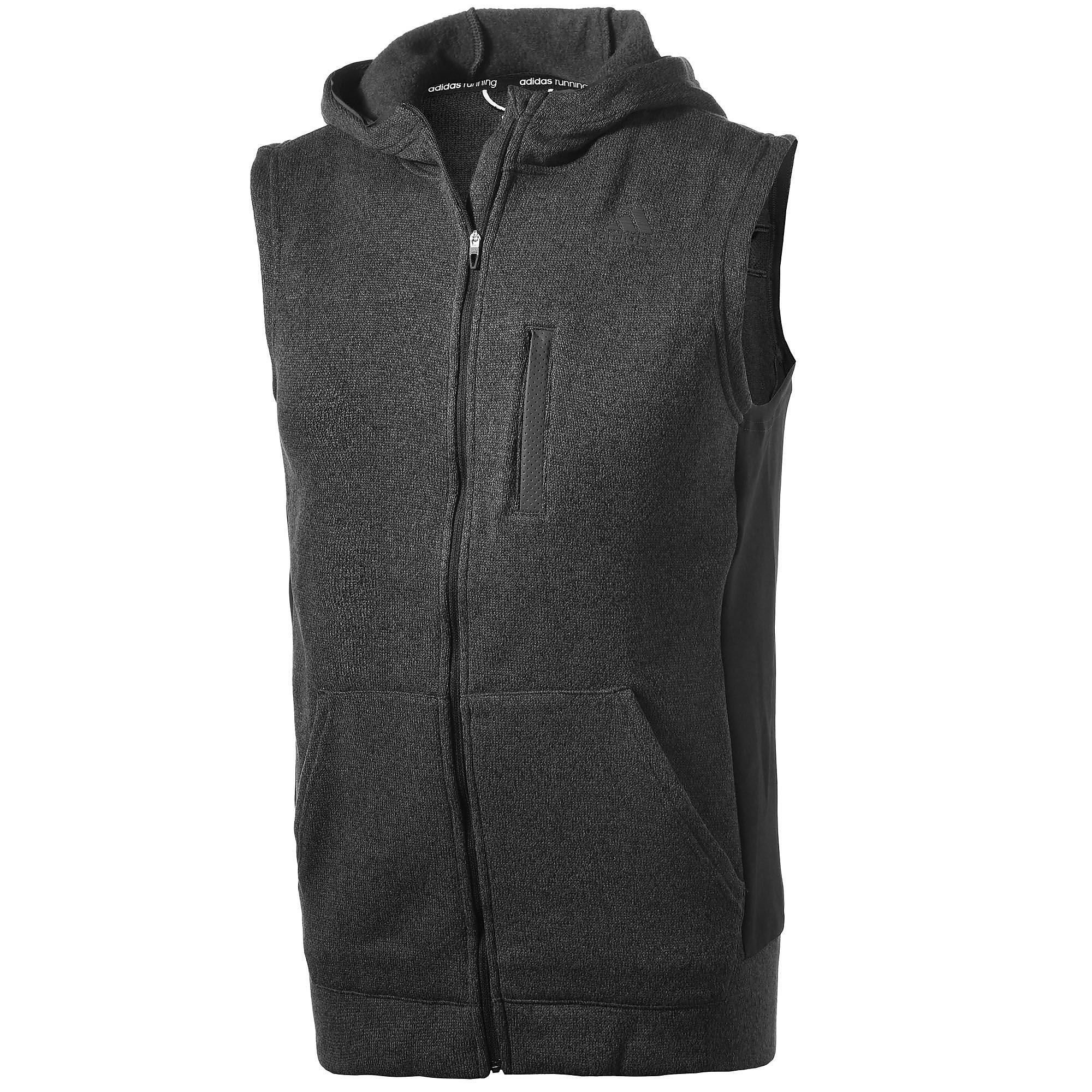 adidas Men's Ultimate Full Zip Running Vest Black S