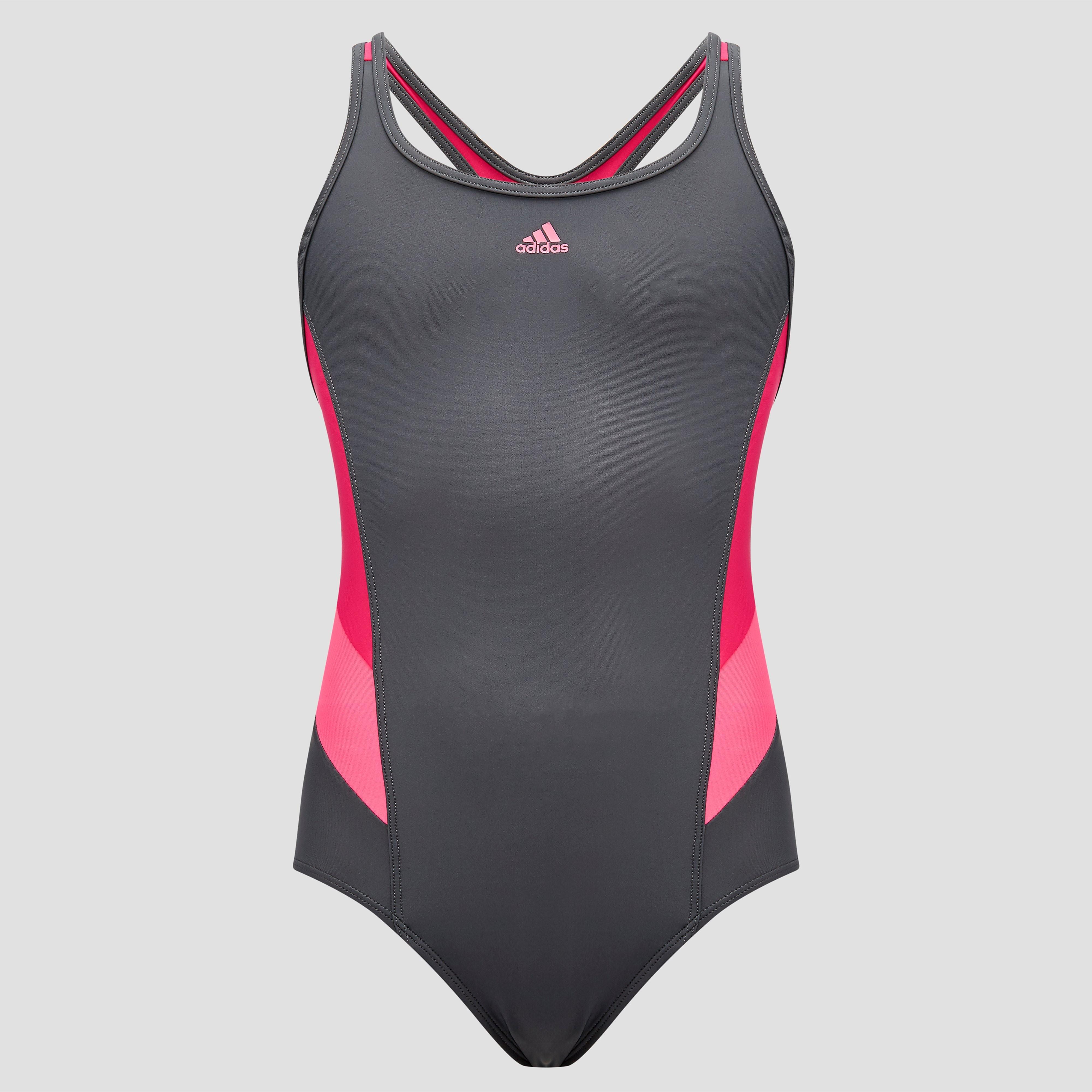 adidas Essence Flare Colorblocked Badpak, Zwart, 128, Zwemmen