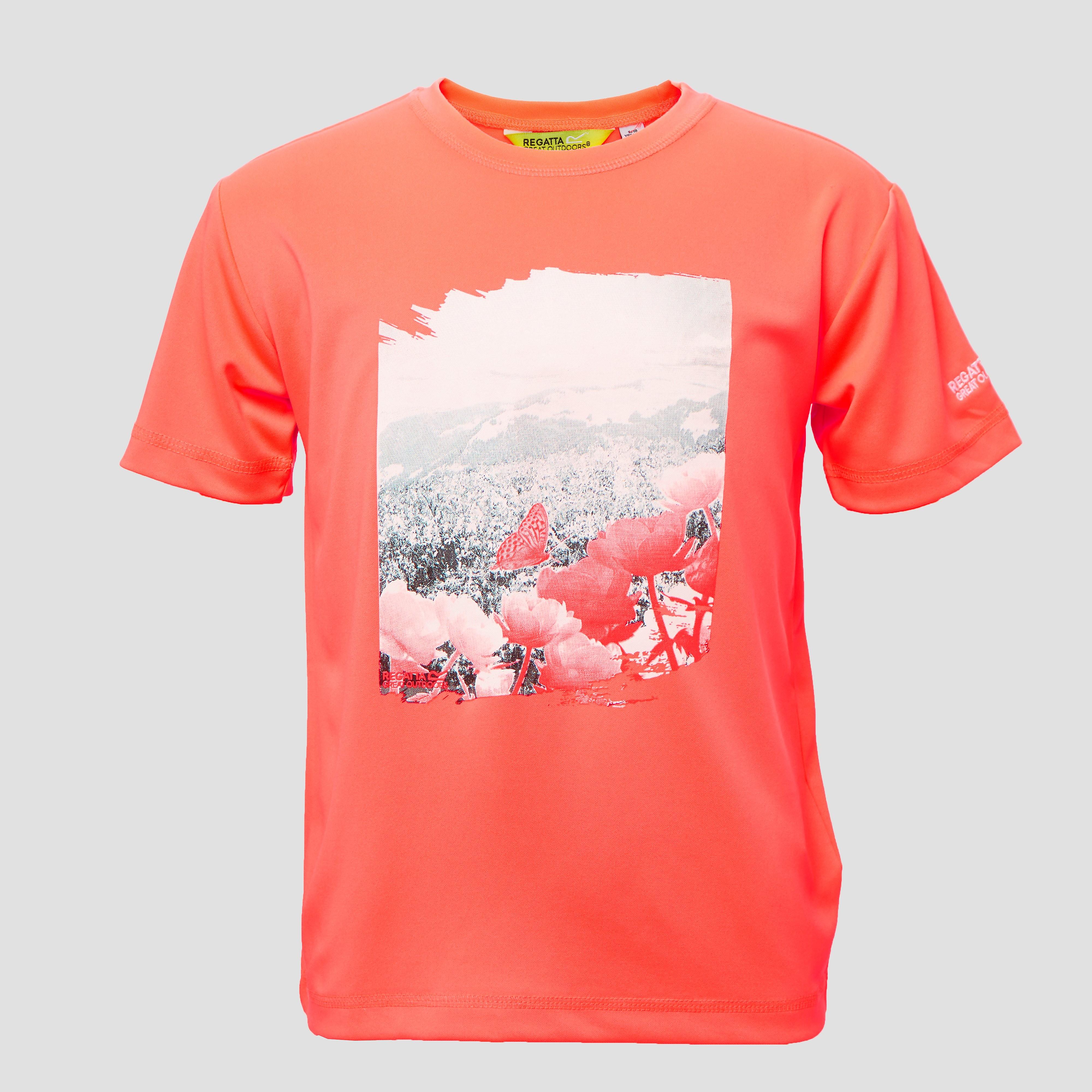 Regatta alvarado outdoor shirt rood kinderen
