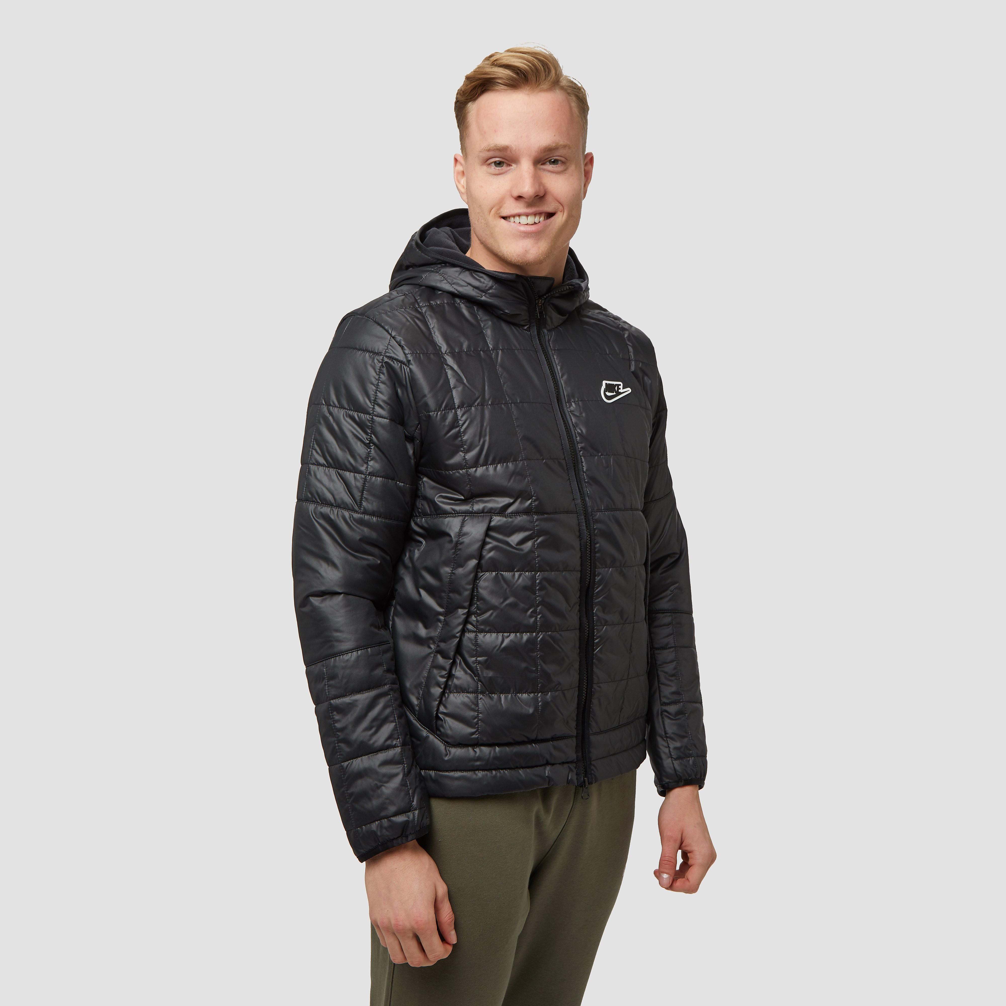 Nike sportswear synthetic fill fleece winterjas zwart heren