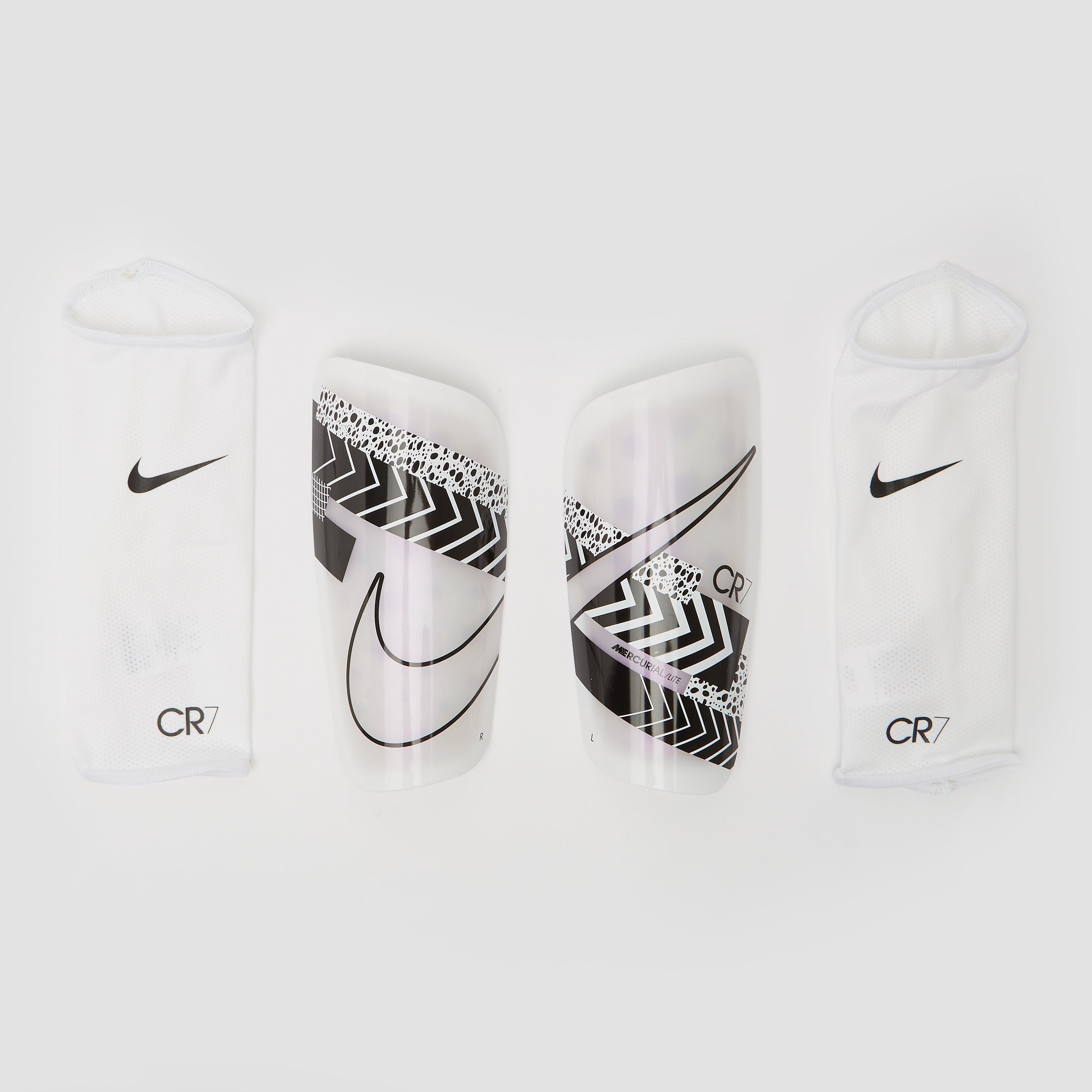Nike cr7 mercurial lite scheenbeschermers wit/zwart