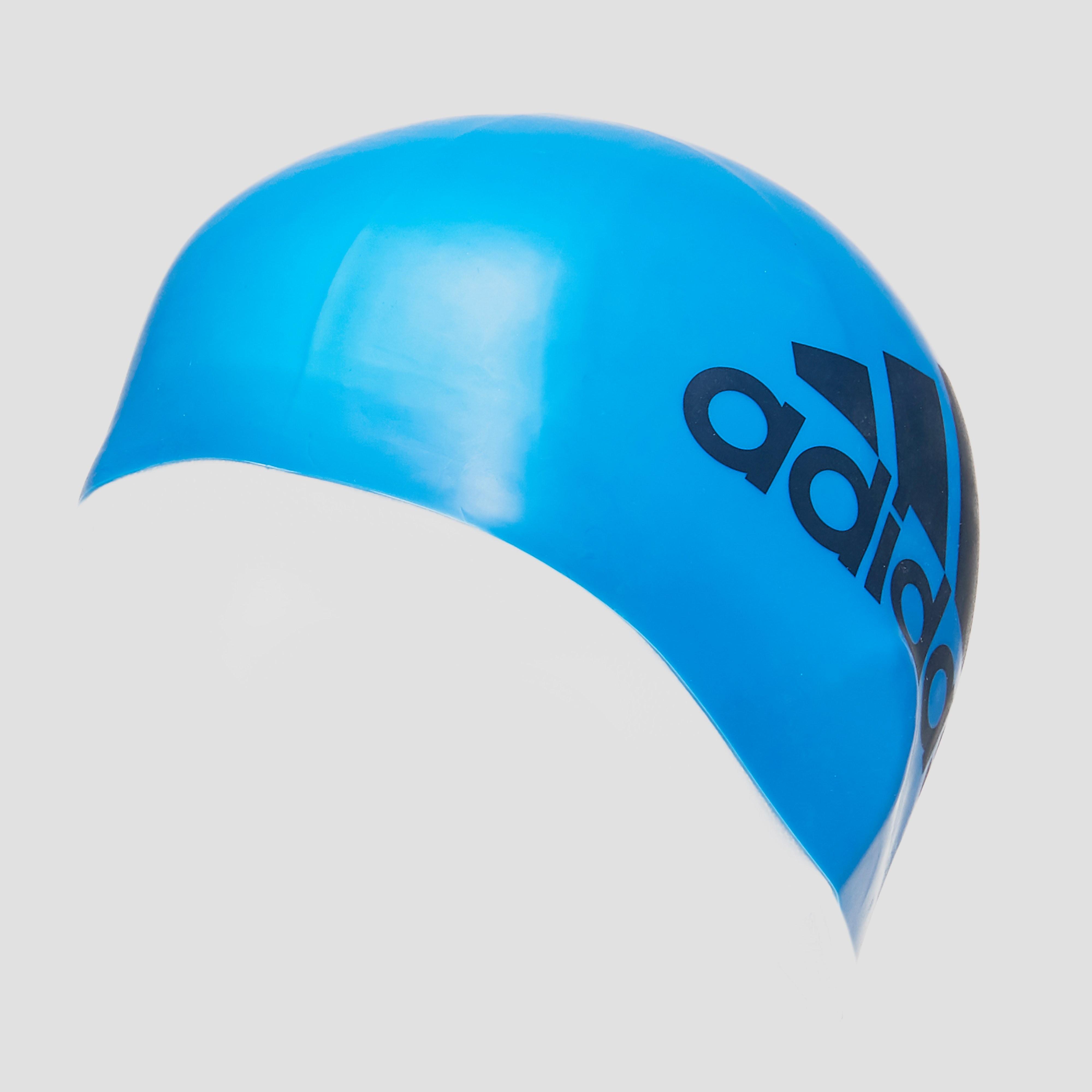 adidas Silicone Graphic Badmuts, Blauw, 1 Size, Male, Zwemmen