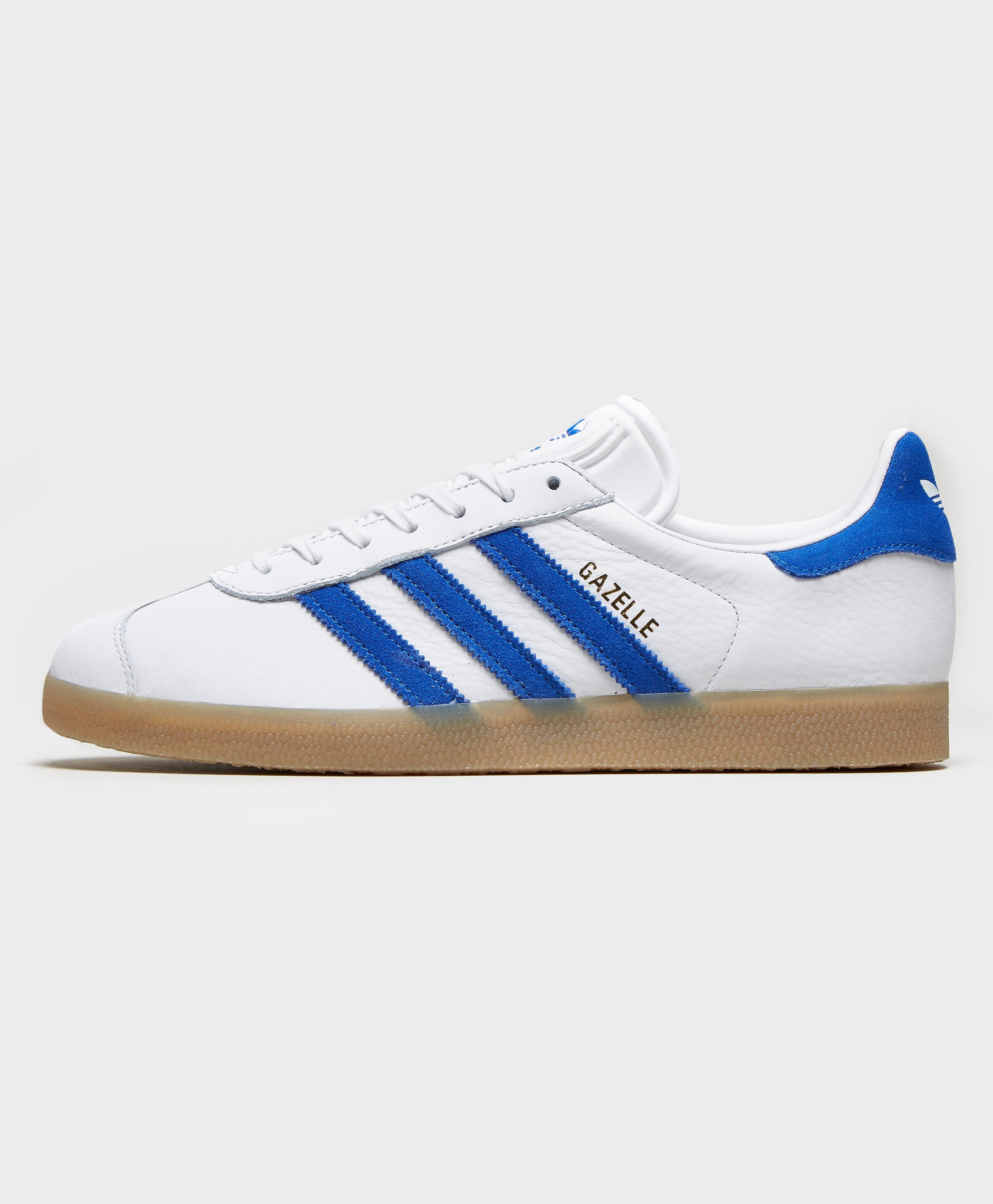 adidas Originals Gazelle OG Leather  WhiteBlue WhiteBlue