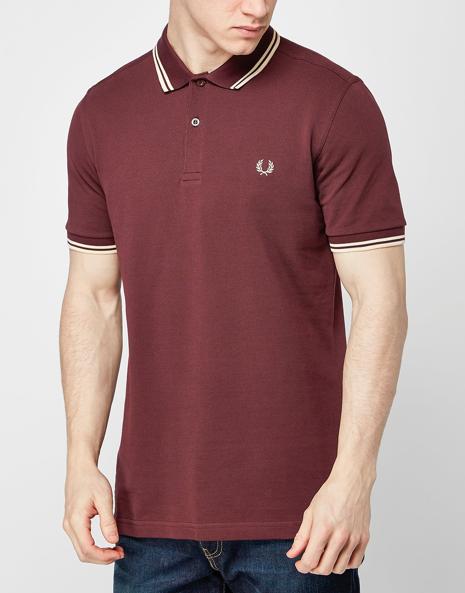 Fred Perry Twin Tip Polo Shirt  Burgundy Burgundy