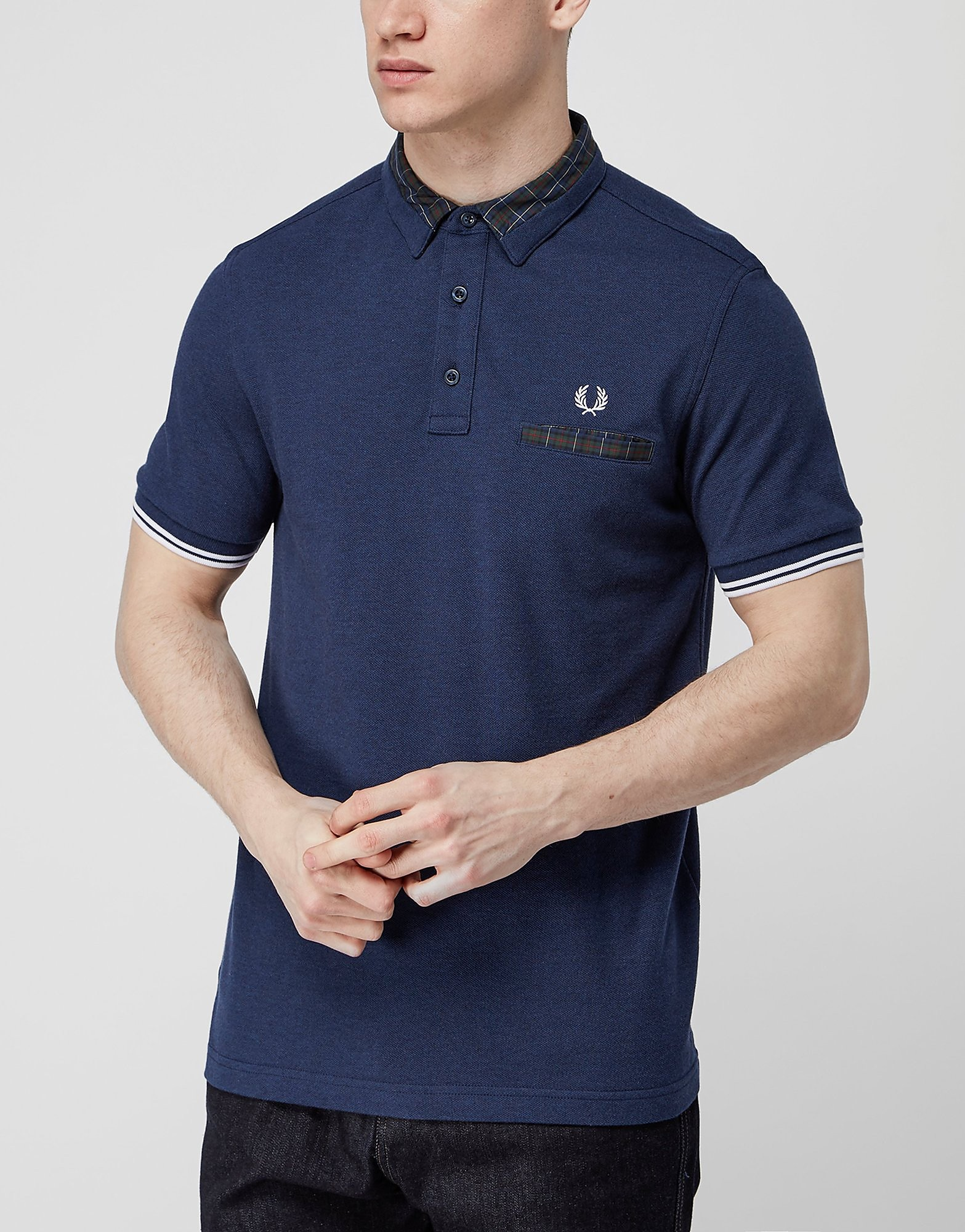Fred Perry Collar Detail Polo Shirt  Exclusive  Navy Navy