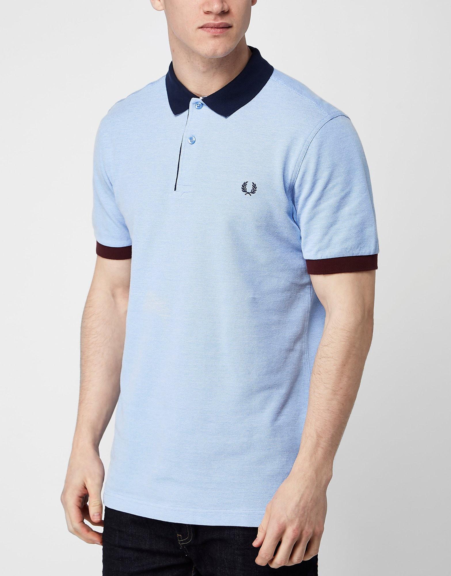 Fred Perry Contrast Collar Polo Shirt  BlueNavy BlueNavy