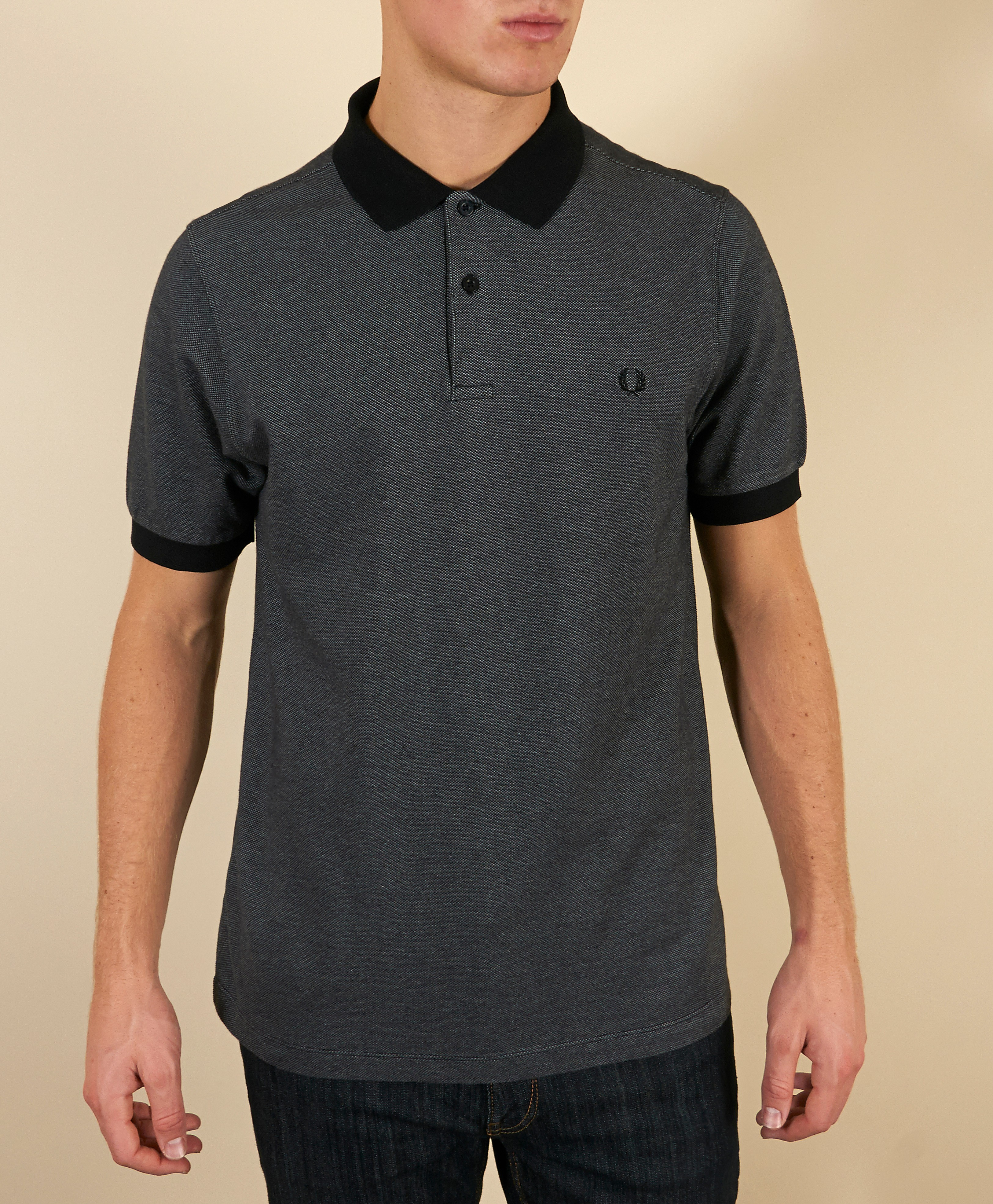Fred Perry Tonic Polo Shirt  Exclusive  CharcoalBlack CharcoalBlack