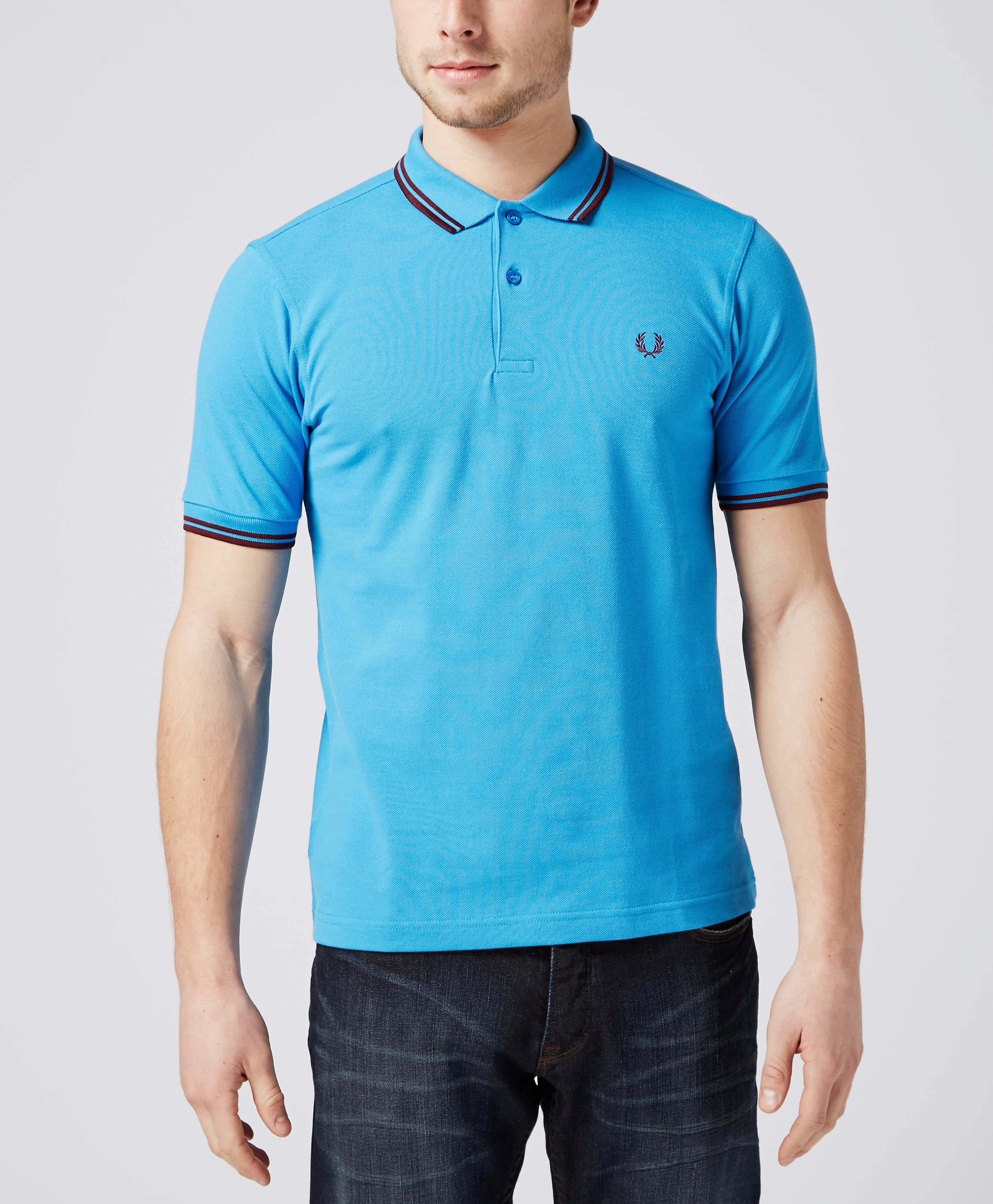 Fred Perry Twin Tip Polo Shirt  BlueBurgundy BlueBurgundy