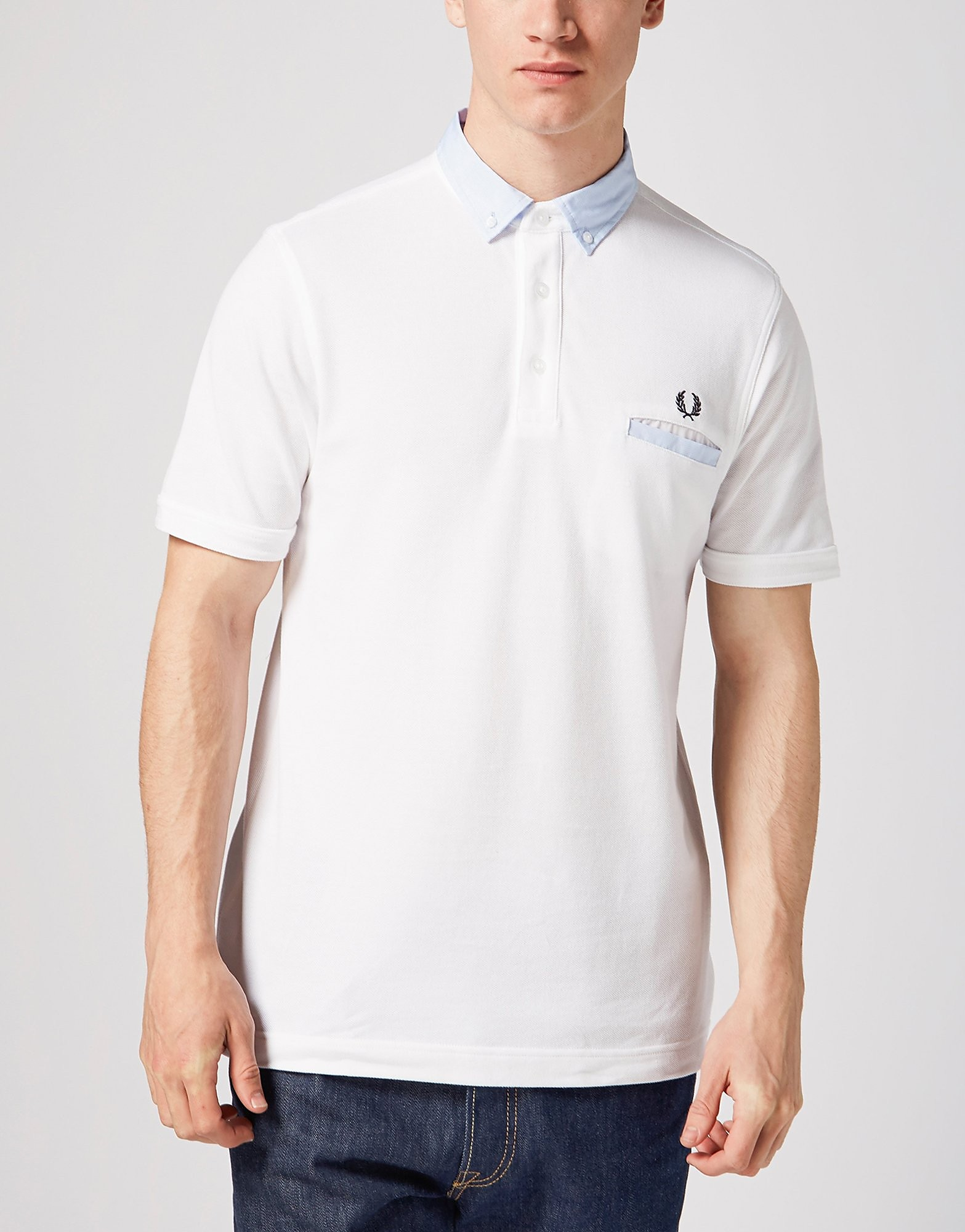 Fred Perry Fabric Trim Polo Shirt  Exclusive  White White