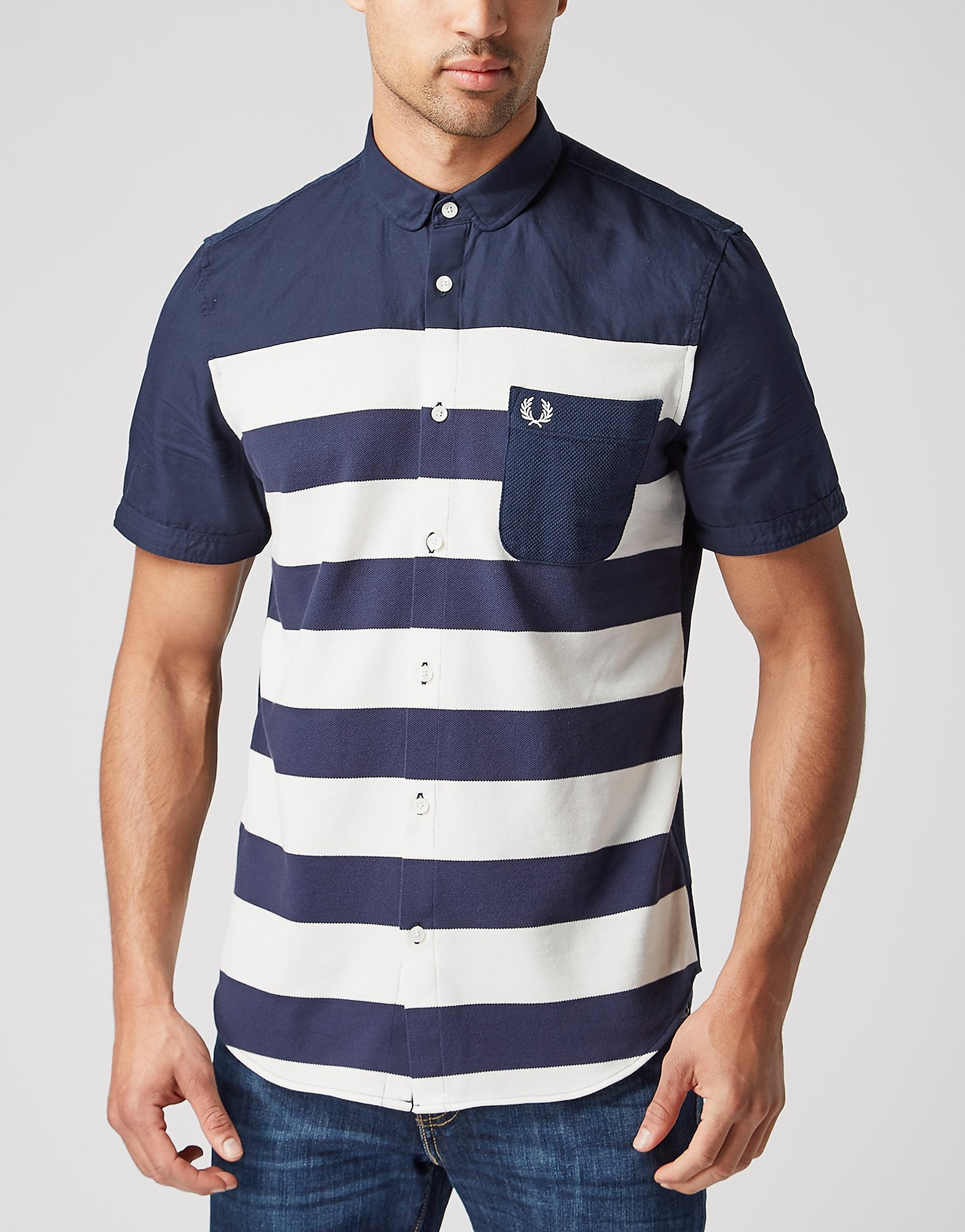Fred Perry Pique Stripe Polo Shirt