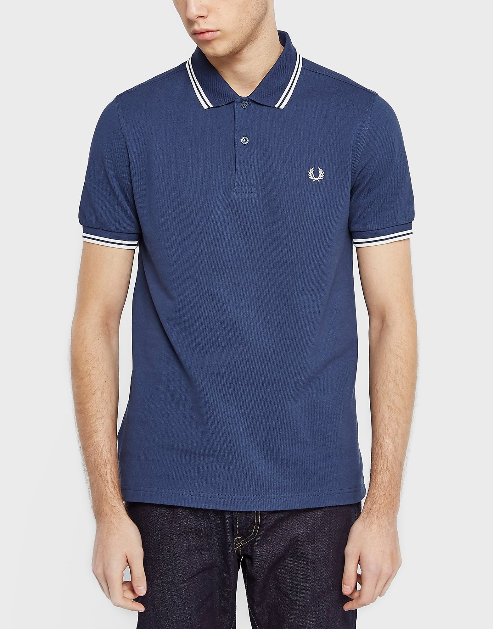 Fred Perry Slim Twin Tipped Polo Shirt  BlueWhite BlueWhite