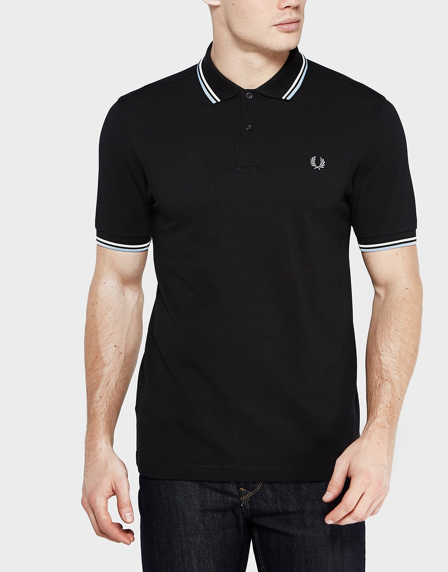 Fred Perry Twin Tip Polo Shirt  BlackWhiteBlue BlackWhiteBlue