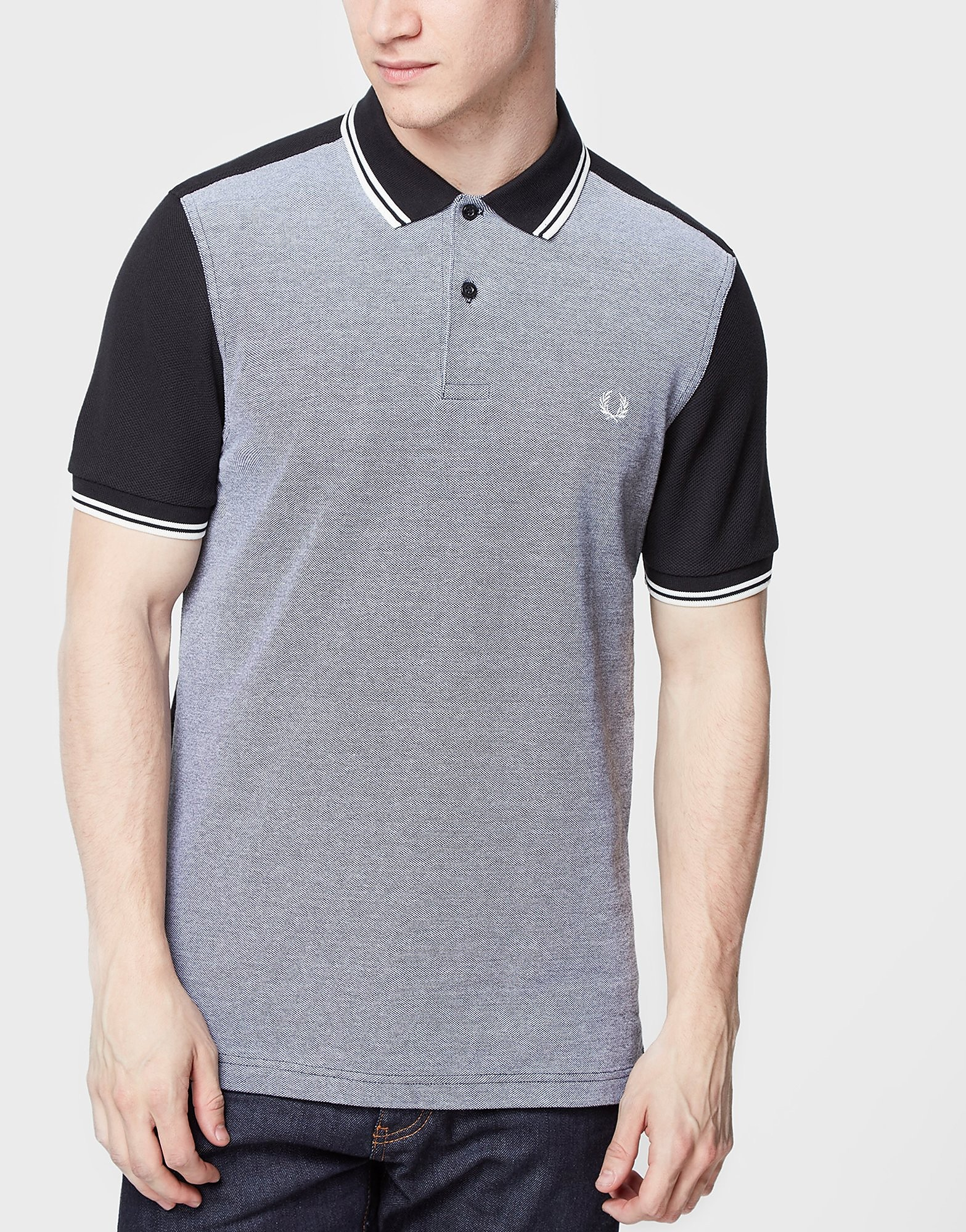 Fred Perry Twin Tip Panel Polo Shirt  Black Black