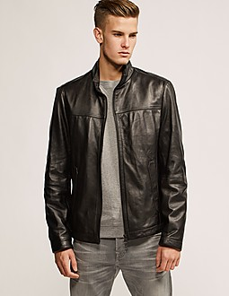 BOSS Nilas Leather Jacket