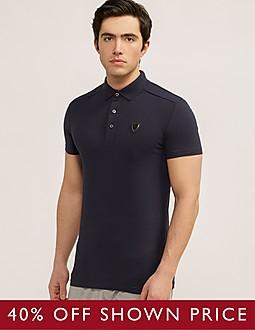 Antony Morato Silver Jersey Polo Shirt