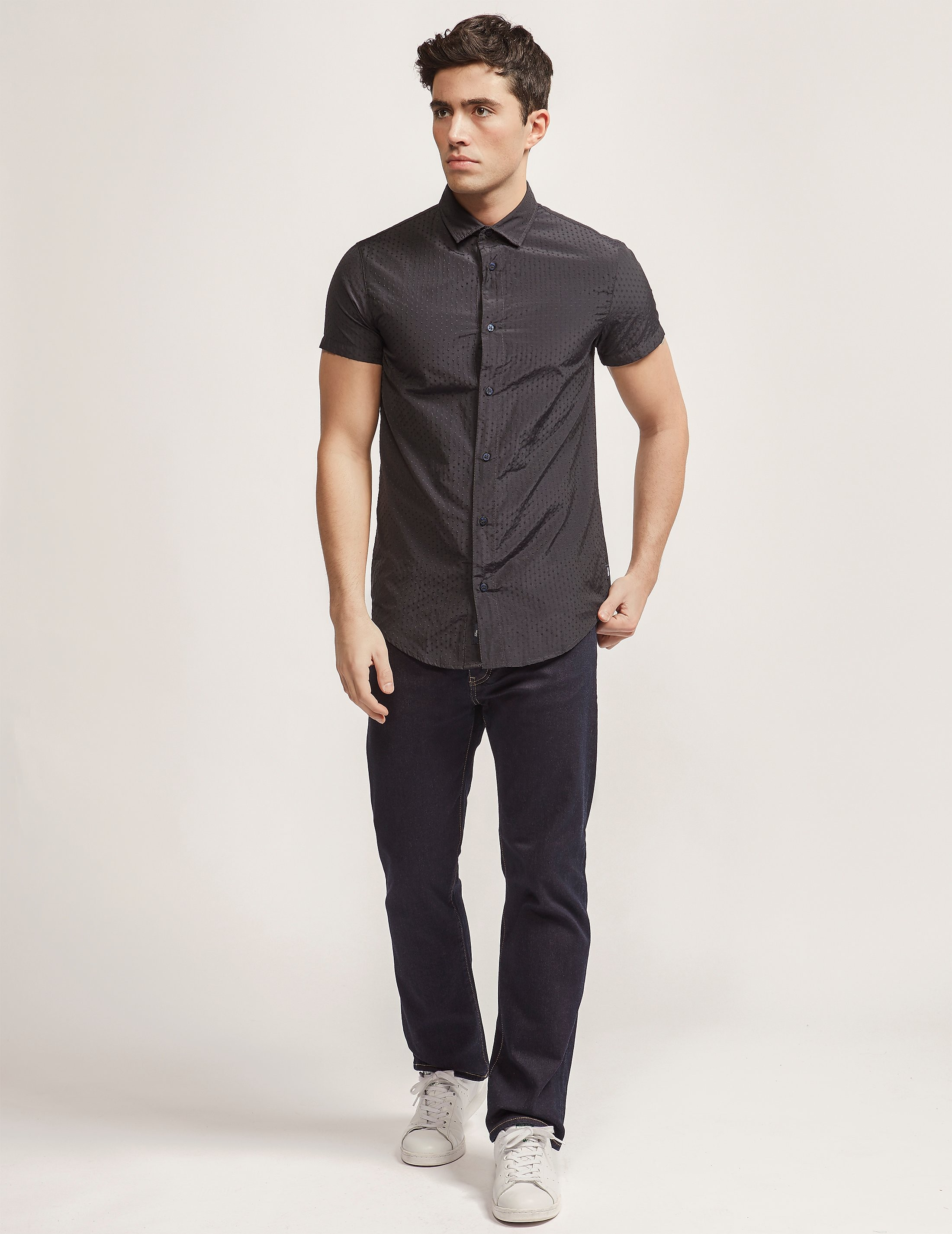Armani Jeans Polka Dot Short Sleeve Shirt