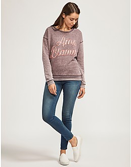 Maison Scotch Burnout Sweatshirt