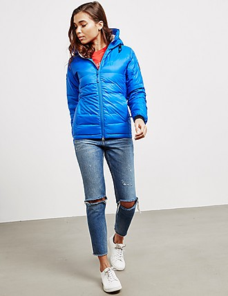 women canada goose camp hooded jacket white