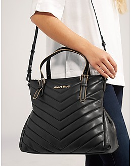 Armani Jeans Panelled Quilt Tote
