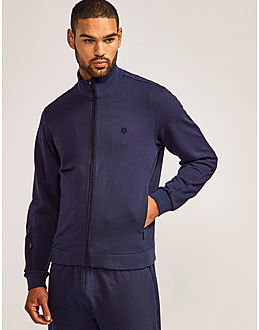 Z Zegna Rib Zip Up Track Top