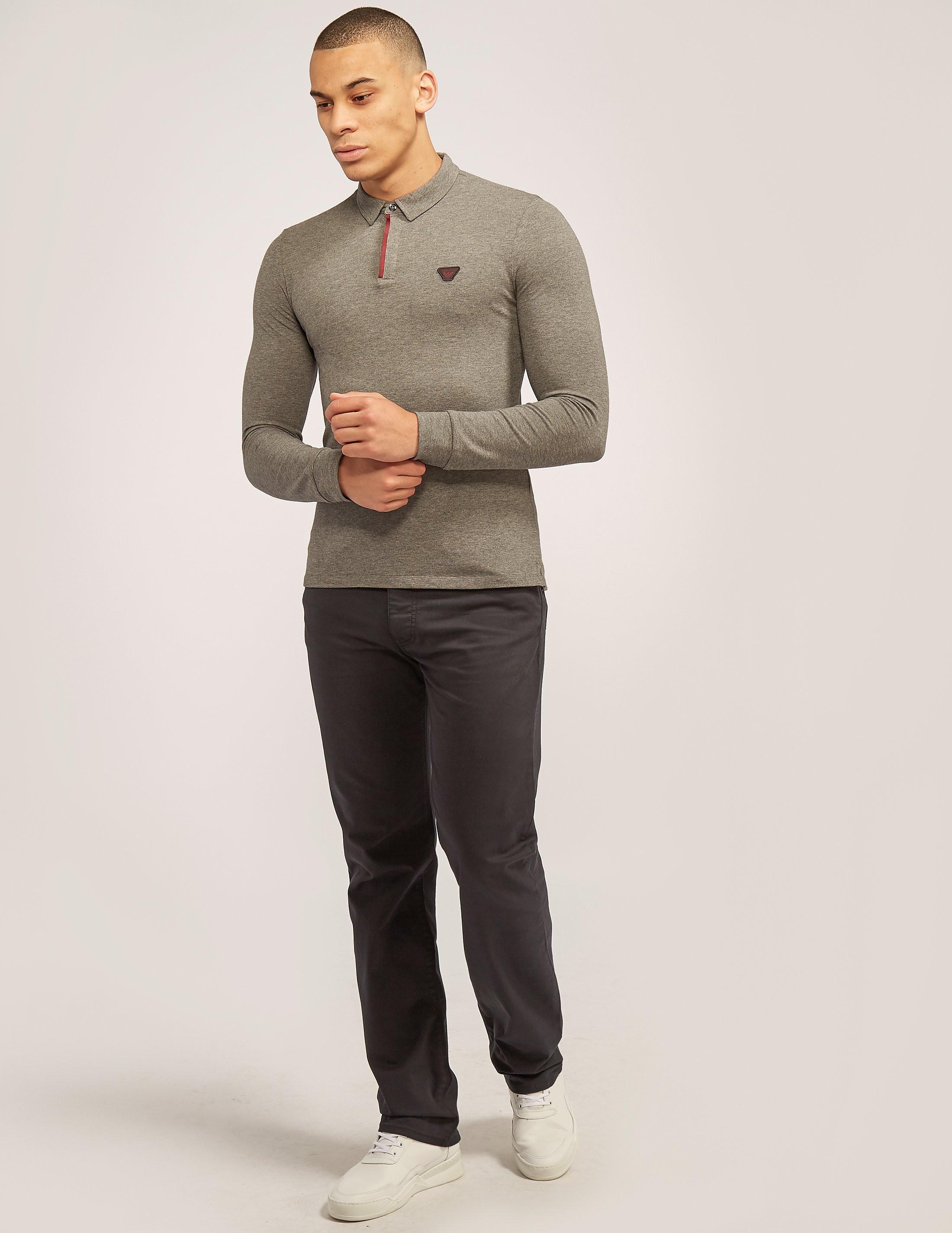 Armani Jeans J21 Comfort Fit Gaberdine Jean - Long Length