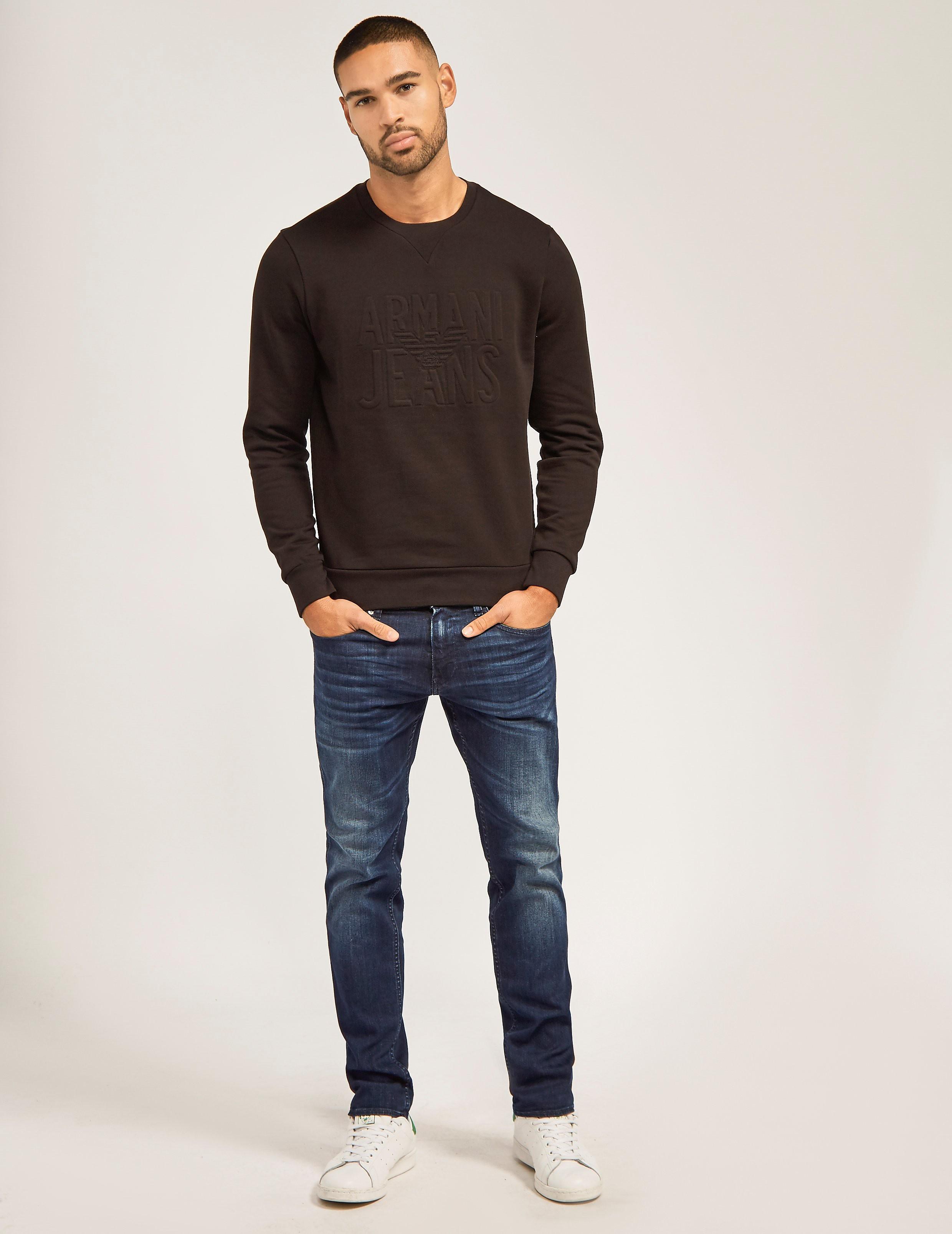 Armani Jeans Embossed Sweatshirt