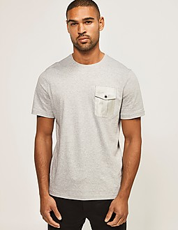 Michael Kors Woven Pocket Liquid T-Shirt