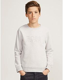 BOSS Kids' Fleece Crew Sweatshirt