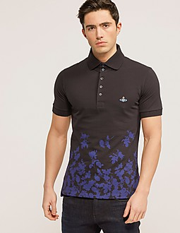 Vivienne Westwood Roses Shor Sleeve Polo Shirt