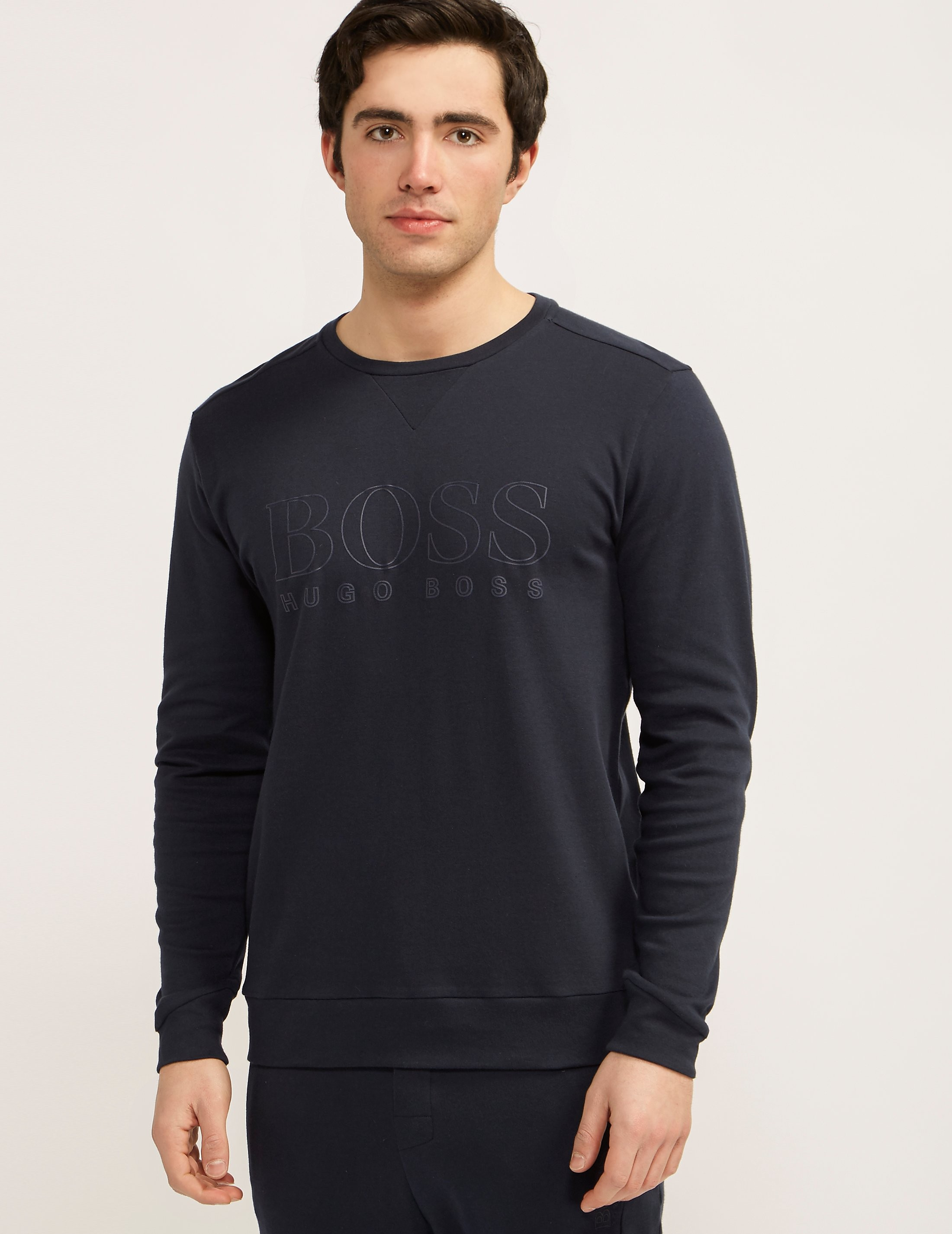 BOSS Crew Neck Logo Sweatshirt