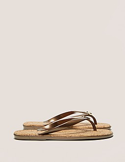 Michael Kors Jelly Cork Flip Flops