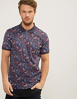 Pretty Green Sefton Paisley Polo Shirt