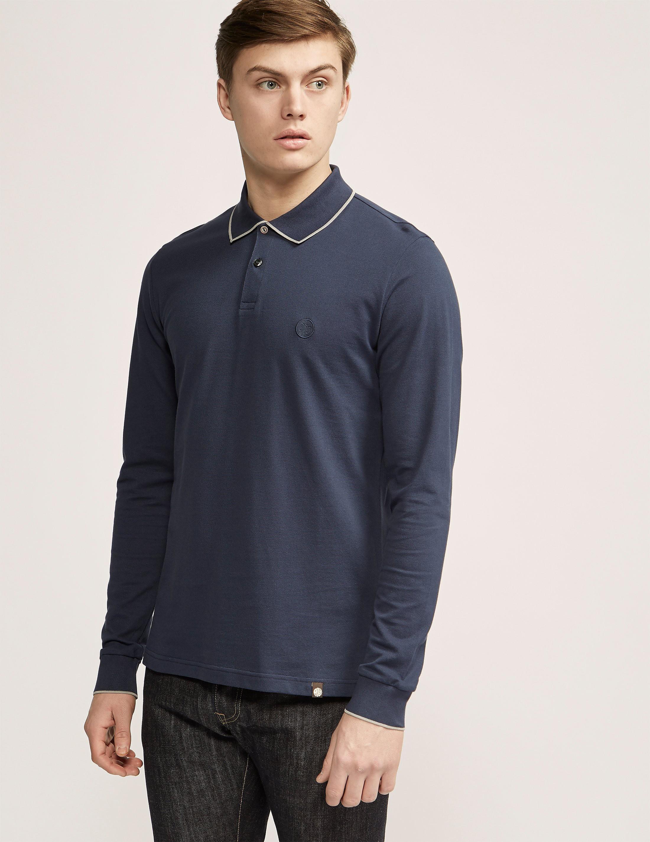 Pretty Green Barcombe Long Sleeve Polo Shirt