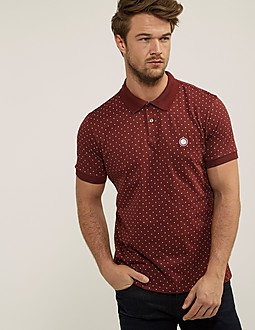 Pretty Green Short Sleeve Polka Dot Polo Shirt