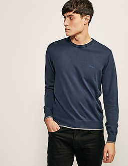 Armani Jeans Crew Neck Knitted Jumper
