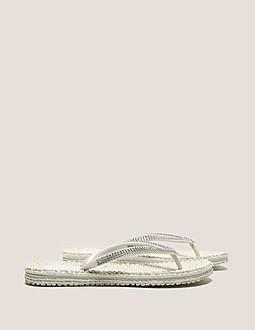 Ilse Jacobsen Crystal Flip Flops