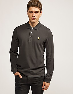 Lyle & Scott Long Sleeved Pique Polo Shirt
