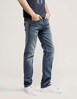 Armani Jeans J45 Straight Leg Regular Fit Jeans - Long