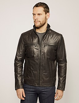 BOSS Almeo Leather Jacket