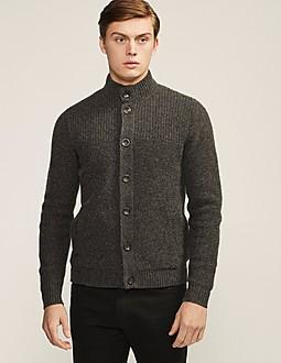 Armani Jeans Button Through Rib Knit