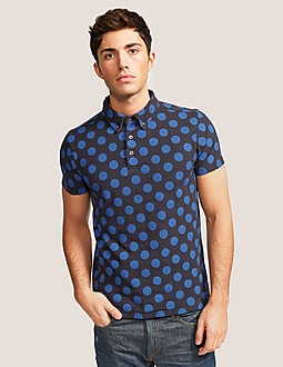 Scotch & Soda All-Over Printed Polo Shirt