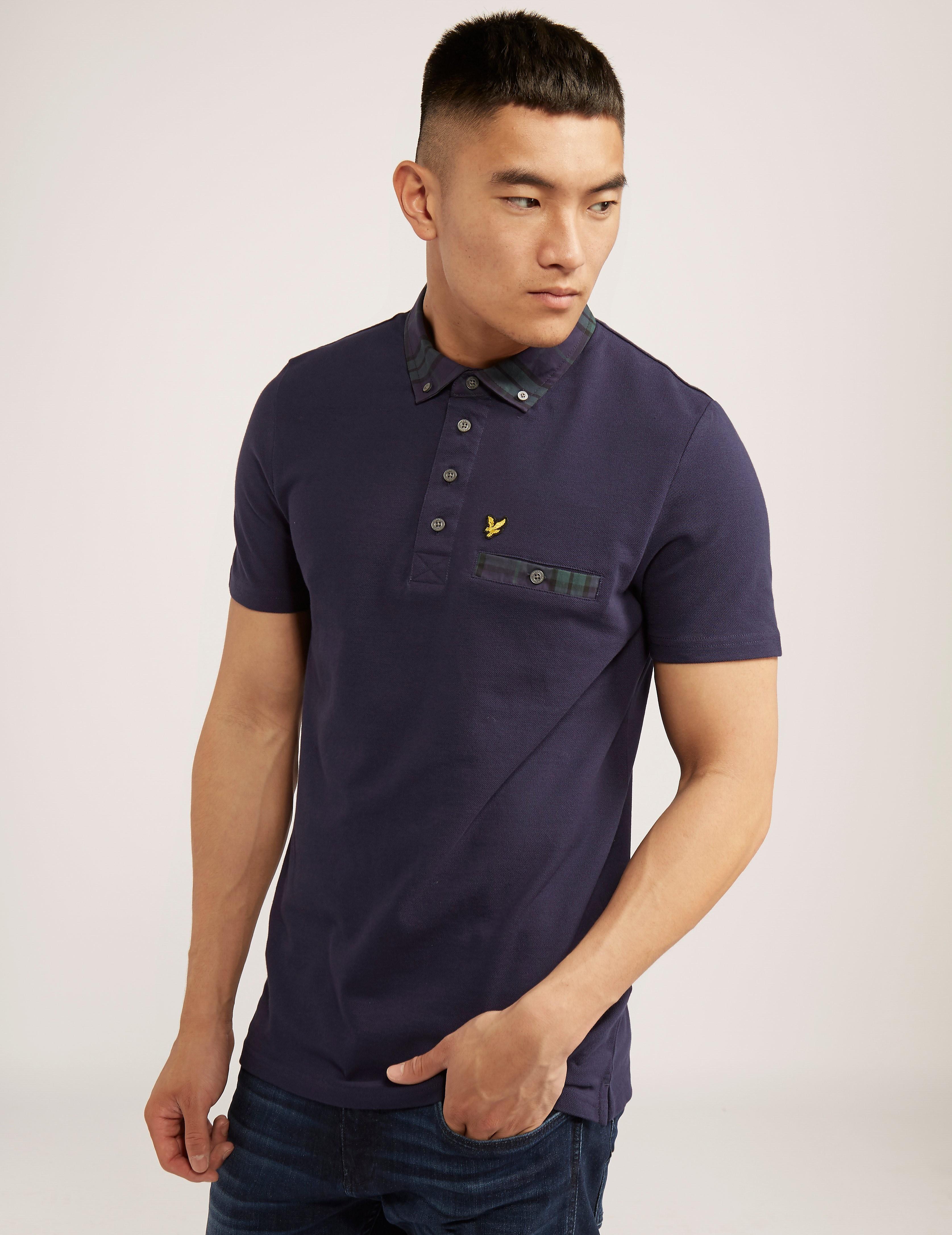 Lyle & Scott Tartan Check Collar Polo Shirt