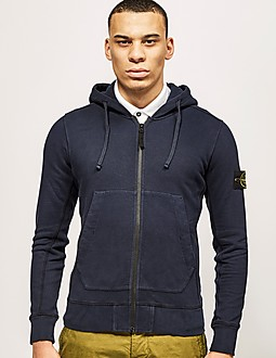 Stone Island Zip Through Dyed Sweatshirt