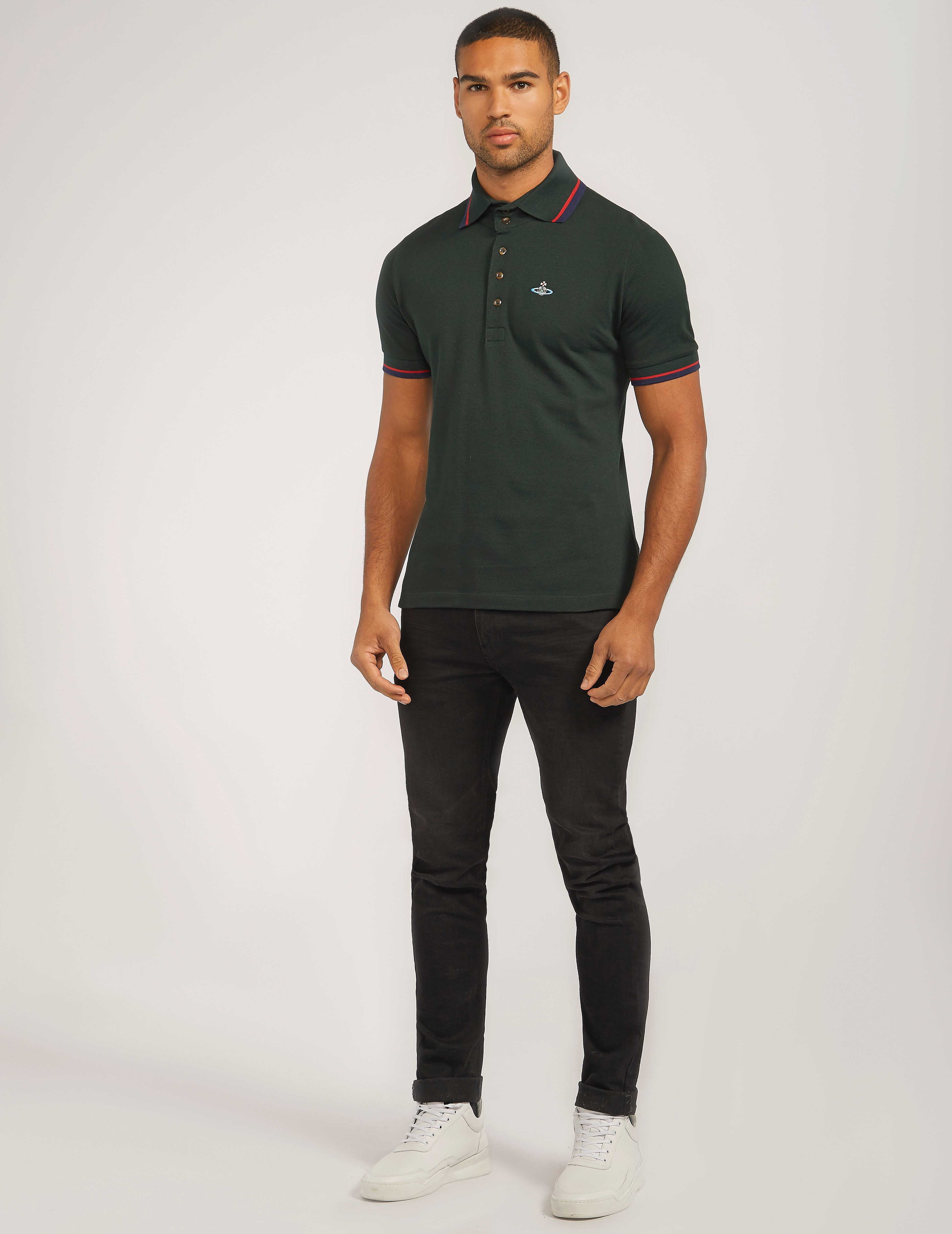 Vivienne Westwood Tipped Short Sleeve Polo Shirt