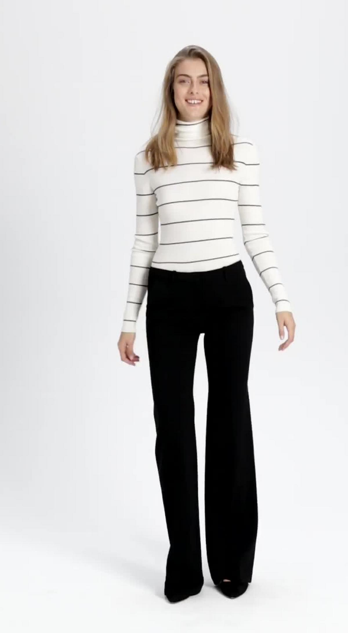 Crepe Flare Pant