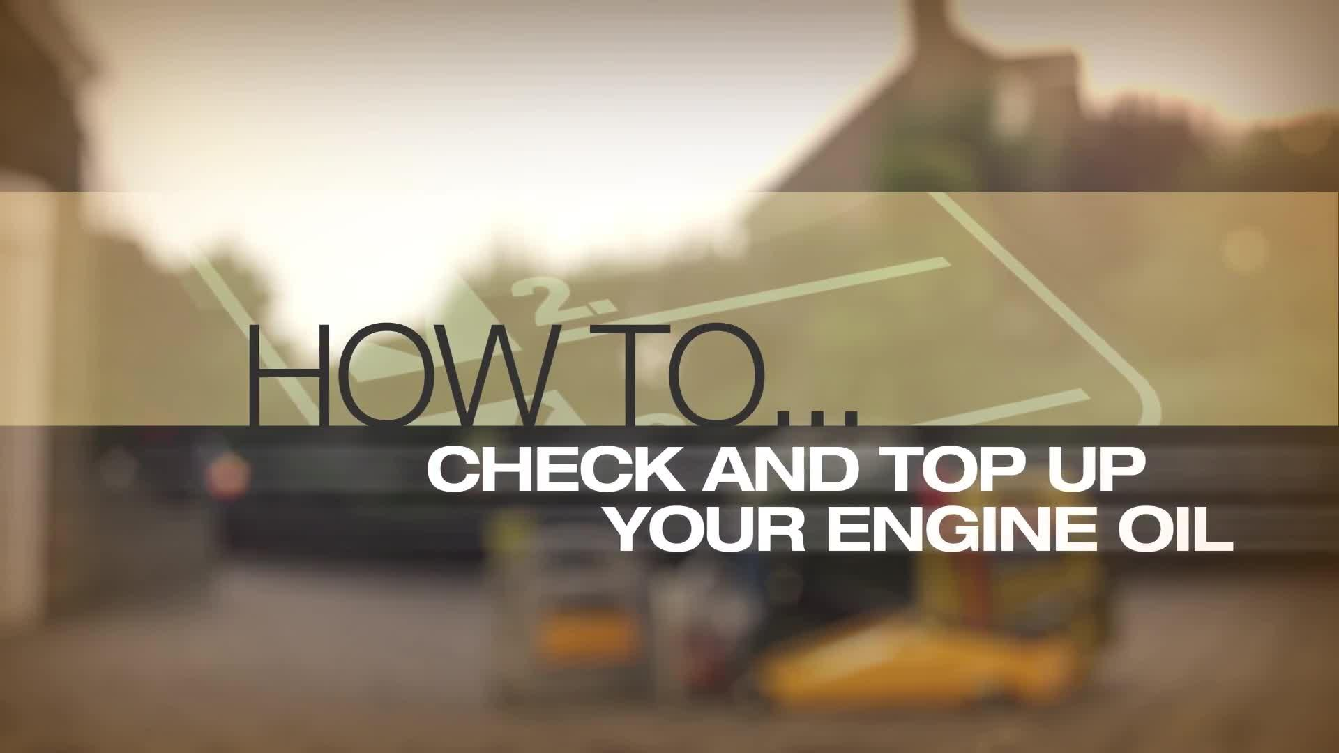 Help Amp Advice Check And Top Up Your Oil Level Guide Video