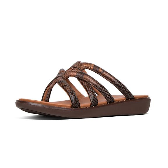 1de02413182e Add to bag. BARELY. Snake-Print Leather Toe-Thongs