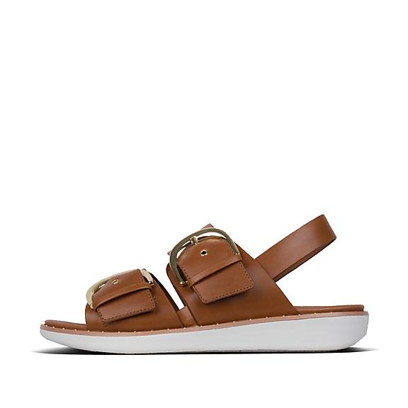12e3e0fb4 Fitflop Gold Lulu Slide Sandals with Padded Cross straps · BUCKLEUP